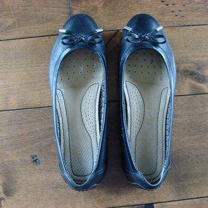 Geox Black Ballerina Flat Sandals